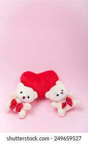 small teddy bear that is suitable for decoration and gift. theme of romance and love