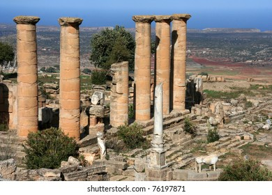 Small temple in ancient Cyrene Libya