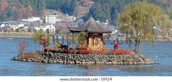 Small temple on Lake Sai