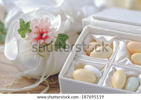 Small Thank You Gift Wedding Reception Stock Photo Edit Now