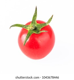 Small tomatoes on white background