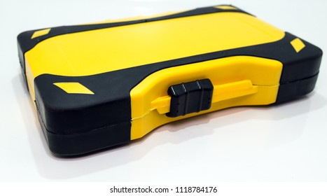 Small toolbox or plastic container.