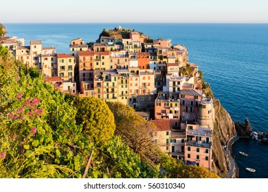 Small town by the Italian riviera
