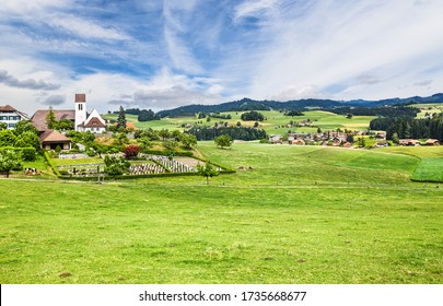 Small town of Emmental, where the cheese Museum in Switzerland