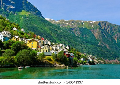 Small town at the fjord in Norway.