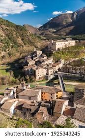 The small town of Piobbico in the Pesaro-Urbino province (Marche, Italy)
