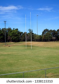 small town rugby pitch with Crossbar and goalposts