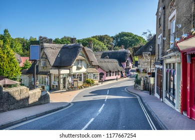 The small town of Shanklin on the Isle of Wight in England