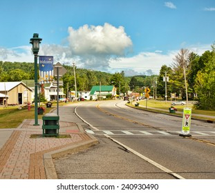 the small town of Speculator, New York located in the Adirondack State Park