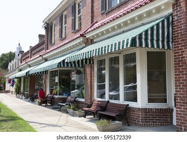 Small town USA Main Street.