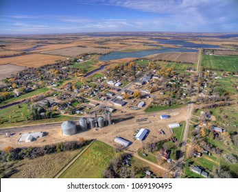Small Town Willow Lake in Rural South Dakota captured by Drone