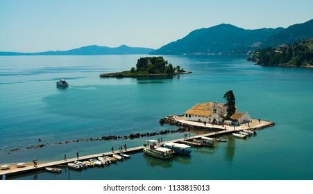 Small traditional chapel in Corfu island, Greece