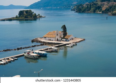Small traditional chapel in Corfu island, Greece