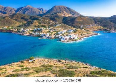 Small traditional fishing village of Mochlos, Crete, Greece.
