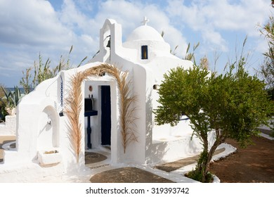 A small, traditional Greek Orthodox chapel, Hersonisos, Crete.
