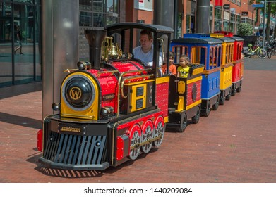 Small Train At The Shopping Mall At Amstelveen The Netherlands 2019
