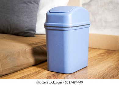 Small trash can on the pillow