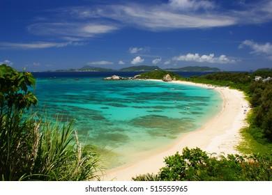 Small tropical beautiful   island Okinawa tropical beach