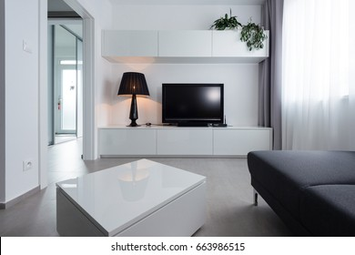 Small TV room in modern house
