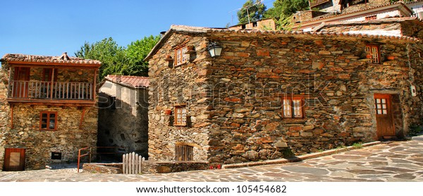Small typical mountain village of schist in Lousa, Portugal