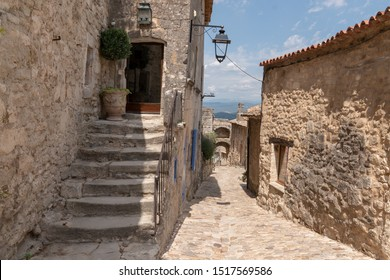 Small typical town in Provence village de Lacoste in Luberon france
