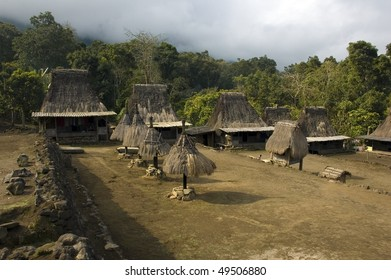 small typical village of flores indonesia