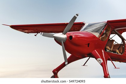small ultralight airplane isolated photomanipulation
