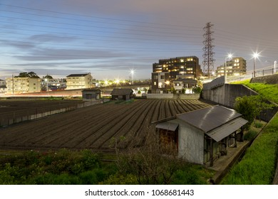 Small urban farm next to apartment buildings in Suita, Esaka