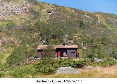 small vacation houses in the southern part of norway, along the famous lysevegen (Lyse road).