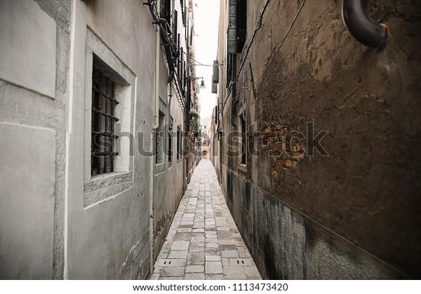 Small Venetian Courtyard Venice Italy Stock Photo Edit Now