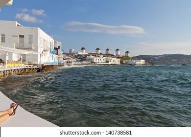The small Venice of Mykonos island in Greece