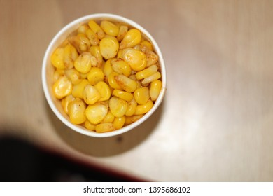 a small view of sweet corns in a cup