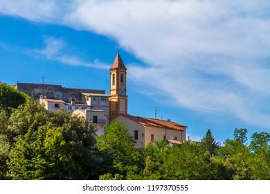 "Small village of ""Aspremont"" in French Riviera."