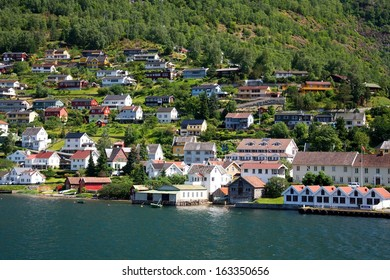 Small village Aurland, Norway