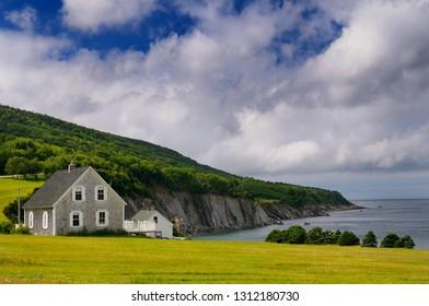 Small village of Capstick at the north tip of Cape Breton Island Nova Scotia