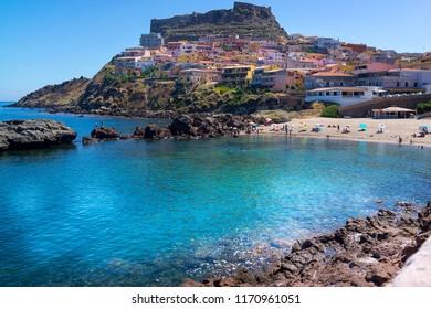 Small village of castelsardo in Sardinia, Italy
