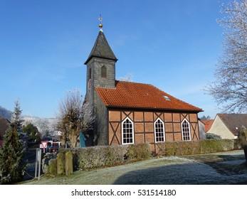 Small village church in Ahlbershausen district Northeim Germany - Shutterstock ID 531514180