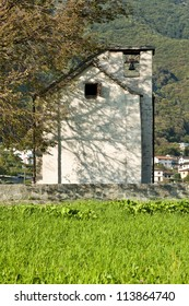 small village church surrounded by nature