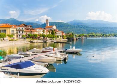 The small village of Feriolo near Baveno, located on Lake Maggiore, Piedmont, Italy.