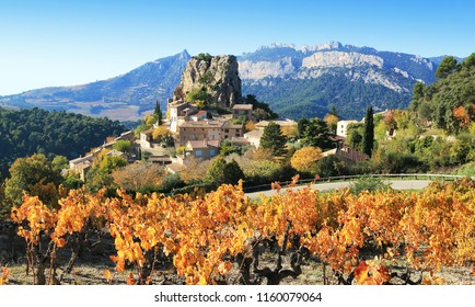 The small village of La Roque-Alric in Provence France