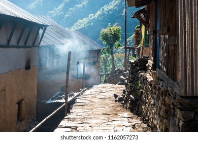Small village in Lamjung district, Nepal