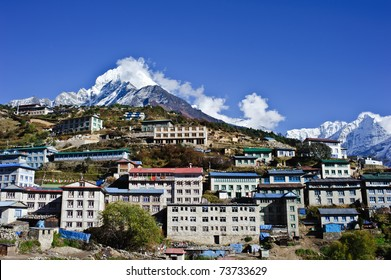 A small village located near Mt. Everest