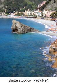 Small village of Monterosso in the Cinque Terre area of Italy.