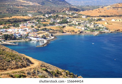 Small village Panormo at Crete, Greece