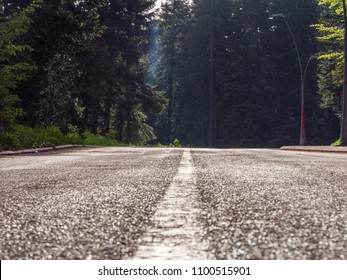 Small village road in Montenegro frog perspective