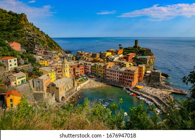 Small Villages in the Cliffs along the Sea in the Cinque Terre National Park