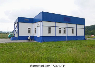 Small Warehouse building at green field