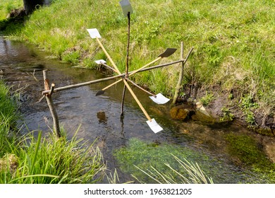 Small water wheel made by children
