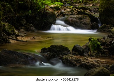 small waterfaal in small river