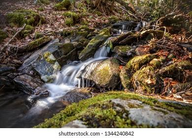Small waterfall along the Appalachian Trail